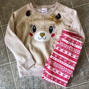 Other - Girls Reindeer Holiday Matching Outfit Size 6